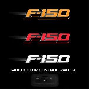 RECON 264282BK Ford LED F-150 2009-2014 Black White-Red-Amber Emblems