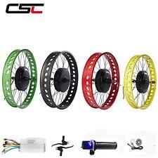 36V 48V Electric Bike Conversion Kit 4.0 Tyre Fat Bike Motor Wheel 20 24 26 inch