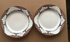 Antique Crown Art Deco Ducal Orange Tree China Side plates x 2  Ex condition