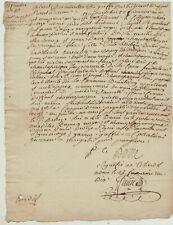 FRANKREICH Original Handschrift um 1750 Stempel Dokument Kalligrafie France