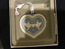 Wedgwood Blue Jasperware Our First Christmas Together Heart Ornament 2016 New