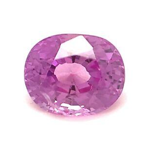 1.3ct Purplish Pink Sapphire, VVS, Oval, Unheated, Natural Gemstone *Video*