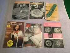 Collection of Antique Knit and Crochet Booklets