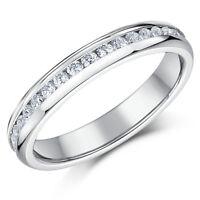 Titanium Eternity Ring 4mm Ladies Full Eternity Wedding Band Engagement Ring