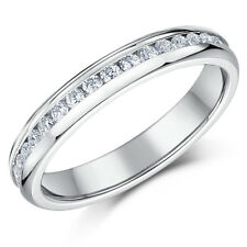 Titanium Eternity Ring 4mm Men's / Ladies CZ Set Full Eternity Ring