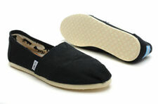 Toms Women's Classic Black Canvas Women's Casual Slip on Shoes Size 8 NEW