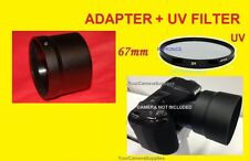 LENS ADAPTER+UV FILTER 67mm for CAMERA NIKON COOLPIX L320 L 320 67 mm