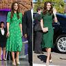 New L.K.Bennett Montana Silk green Dress sz UK 14