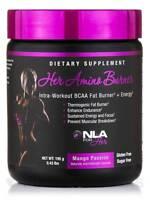 NLA for Her AMINO BURNER Intra-Workout BCAA Fat Burner ENERGY 30 Serving MANGO