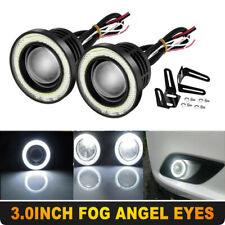 "2PCS 3"" Car SUV COB LED Fog Light Projector White Angel Eyes Halo Ring DRL Lamp"