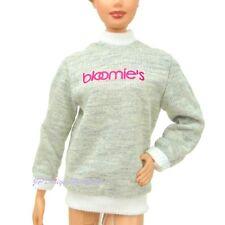 New Barbie Bloomingdales Grey Logo Sweatshirt Bloomies No Doll