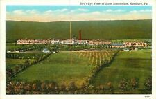 Hamburg Pennsylvania~State Sanatorium~Birds Eye View~Crops in Field 1940s