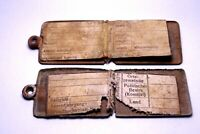 Lot of 2 pcs WW1 Austrian Hungarian Dog Tags - WWI Eastern Front 1916 Rare Relic