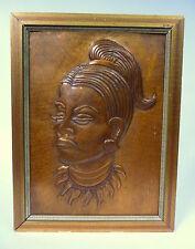 Messingrelief signiert Relief Bronze