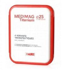 Coffret aimants thérapeutiques Médimag Titanium Auris diamètre 25 mm