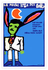 "Decor Graphic Design movie Poster""Crazy Night of RABBIT""italian film.Long ears"