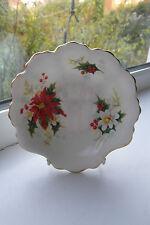 Royal Albert Poinsettia Shell Trinket Dish 1st Quality Bone China Christmas