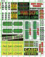 7012 DAVE'S DECALS SCALE PAWN SHOP CASH FOR GOLD CHECK CASH BUILDING SIGNS
