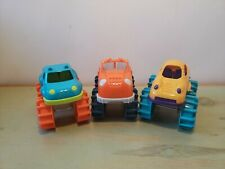 "Battat Mini Monster Trucks Plastic Cars Vehicles Big Wheels Tires Lot of 3 5"" L"
