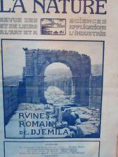 La NATURE an 1922 /// Les ruines romaines de DJEMILA, hiéroglyphes de l'Egypte