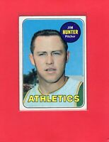 1969 Topps baseball #235 JIM CATFISH HUNTER Oakland Athletics Hall of Fame HOF