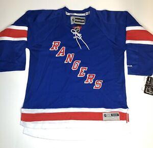 Reebok NHL NY Rangers Youth Sz L/XL Hockey NWT  Arena Royal Blue Premium Jersey