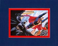 BATMAN & SUPERMAN PRINT PROFESSIONALLY MATTED Alex Ross art