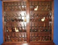 Pipe Rack Display Cabinet smokers case,Churchwarden 56 Pipes,Item # 192