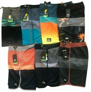 "2020 QUIKSILVER Men's VOLLEY BOARD SHORTS STRETCH SWIM TRUNK OUTSEAM 20"" 19"""