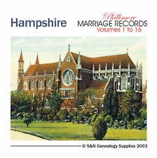 Hampshire Parish Registers - Complete Phillimore Marriage Records