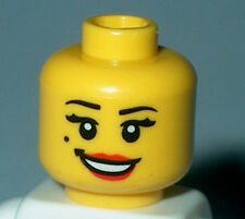 HEAD FY004 Lego Female Yellow Open Smile Red Lips & Beauty Mark NEW
