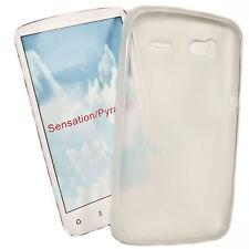 Silikon TPU Handy Cover Case Hülle Schale  Schutz für HTC Sensation in Foggy