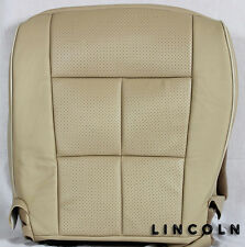 2008 2009 Lincoln Navigator-Driver Side Bottom PERFORATED Leather Seat Cover TAN