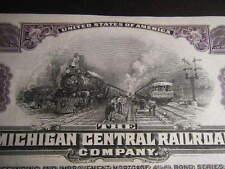 CRISP $1,000 UNISSUED Michigan Central Railroad 1929 Fifty-Year 4.5% Bond WOW