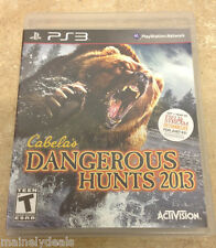 Cabela's Dangerous Hunts 2013 (Sony Playstation 3, 2012) No Manual! Tested!