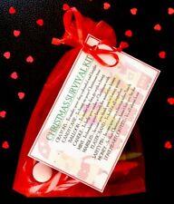 CHRISTMAS SURVIVAL KIT - Stocking Filler - SECRET SANTA -  NOVELTY GIFT HIM HER