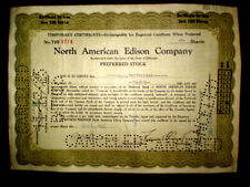 North American Edison,Temporary stock certificate,1925