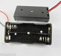 5pcs New 2x AAA 3A 2XAAA Battery Holder Box Case 3V With Lead Wire Black