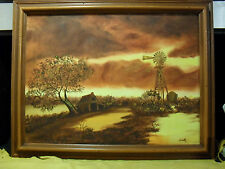 Original Signed M. Smith Water Color Painting on Canvas
