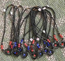 """NWT's! Wholesale Lot Of 12 polished gemstone 18"""" Heart of Steel Necklace's. SALE"""