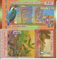 SOUTH PACIFIC BILLETE 10 DOLLARS MAUI 2015