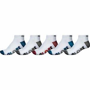 Globe Socks 5 Pack Multi Stripe Ankle White Size 7-11 Skateboard Sox