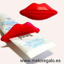 Exprime pasta de dientes con forma de labios, Exprimidor de crema.Rojo o rosa