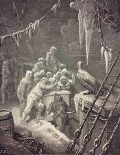 Gustave Doré Anciens Marins Londres 1876 XIX ème Marine Marin glace Albatros