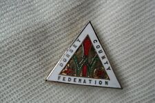 More details for dorset county federation triangle pin lapel badge free u.k. p&p