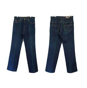 HAWK Dark 80s Denim Jeans High waist rise Pleat front 70s 90cm w Straight leg