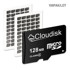 Cloudisk 100Pcs/Lot Customized Micro SD Card 128MB C4 to 32GB C10 TF Memory Card