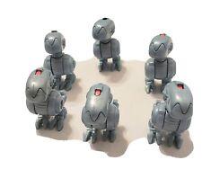 Lot Of 6 Rare vintage figurine 90's - ninja turtles tmnt mouser (5x4cm)
