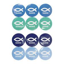 Fisch Sticker Danke 24 Stk. Aufkleber Kommunion Taufe Konfirmation Hochzeit