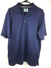 Ben Hogan Men's Performance Golf Athletic Polo Shirt Blue Men's Size Large